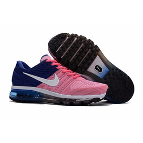 Zapatillas Nike Air Max 2017 Rosado / Azul Stock Original