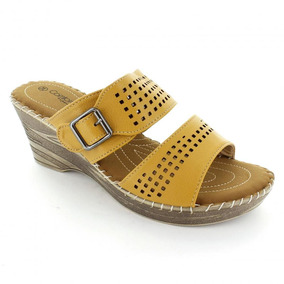 Sandalia Para Mujer Comfort Fit 11406-040689 Color Cafe
