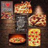 Kit Com 12 Placas Decorativas Em Mdf - Tema Pizza