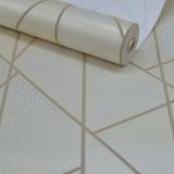 Papel De Parede Rolo Importado Textura Moderna Geométrico 3d