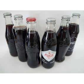 Coca-cola Cinco Botellas Clásicas Retro Mas Una Actual
