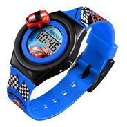 Relógio Infantil Carros Corrida Skmei Digital 1376 Azul