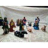 Nacimiento Navideño Ceramica Horneada 13 Pzas
