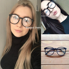 222c76be60284 Armação De Óculos Grau Fosca Redonda Unissex Nerd Vintage
