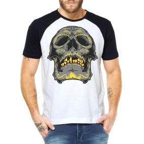 Camisetas Caveira Tribal Camisa Estilo Promoção Atacado 4d1c20eb0f7