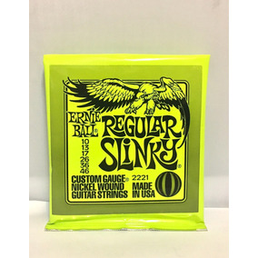 Set De Cordas Ernie Ball Slinky 0.10 Menor Preço Made In Usa