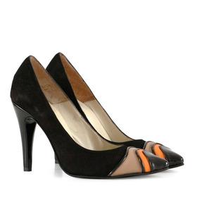 Stilettos Mujer En Gamuza Negro Moderno Batistella Concept