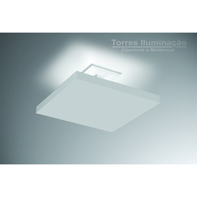 2 Plafon Luz Indireta 40x40 Sobrepor Lustre Sala/quarto/home