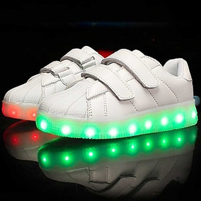 Oferta Zapatillas Con Luces Led Blanca 25 Hasta38 Unisex