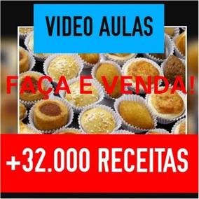 Curso Salgados Faça E Venda Vídeo Aulas +32000 Receitas