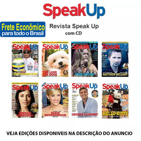 Revista Speak Up Com Cd Ingles Varias Edições Novas Escolha