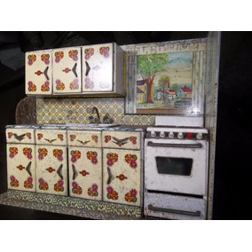Cocinita Para Muñeca Hojalata Saxo