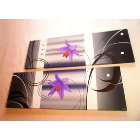 Cuadros Tripticos Polípticos Florales Modernos Abstractos