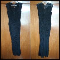 Vestido De Fiesta Noche Largo Eva Brazzi Negro Talla L