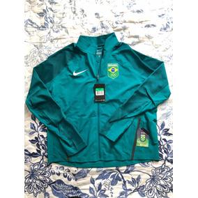 e3cf0e0514fc8 Jaqueta Nike Verde Stadium Time Brasil Olimpíadas Rio 2016