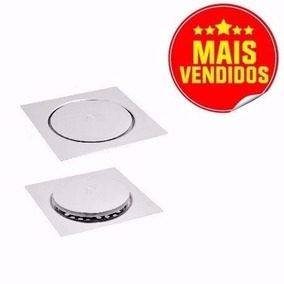 2 Ralos Click Inteligente Em Inox 15x15 Cm