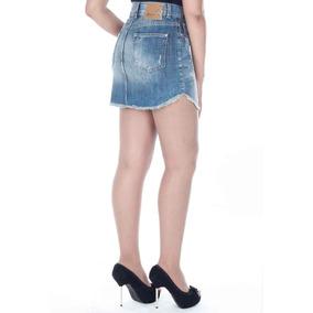 Mini Saia Jeans Cintura Alta-240009 - Sawary