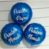 12 Balões Metalizado Personalizado Para Festas