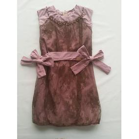 Vestido Infantil Renda Rosê Luluzinha 131131 Frete Grátis