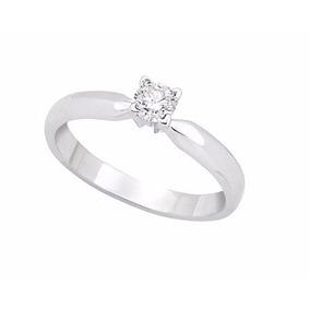 Anillo De Compromiso Oro Blanco 14k Diamante 20 Puntos M931