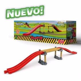 Trencity Puente 5 Piezas 55 Cm Largo Madera Plastico Edu