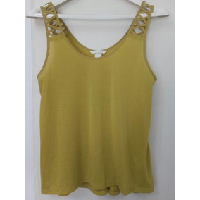 Remera Musculosa Lisa Mujer - H&m - Talle S