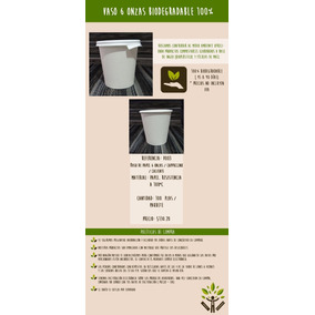 Vaso Desechable 100% Biodegradable 6 Onzas - Cappuccino