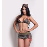 Fantasia Militar Exercito Sensual Sexy Erótica Feminina Moda