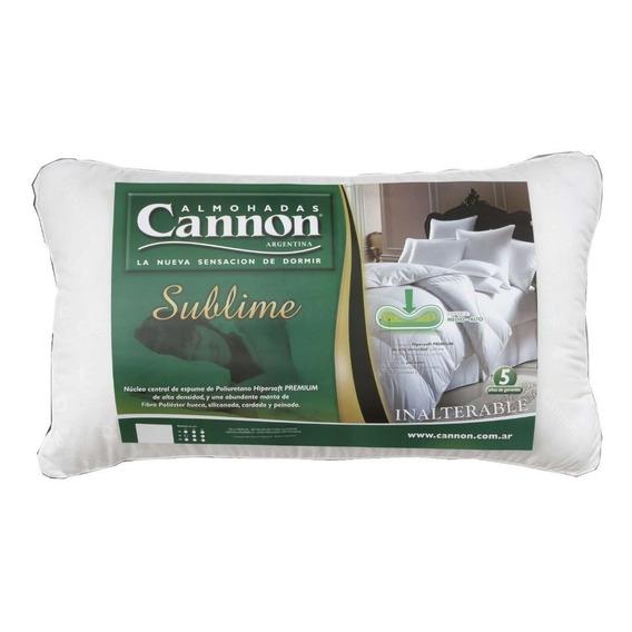Almohada Cannon Sublime (70cm X 40cm) Fibra Siliconada Hipersoft Premium Antialérgica!!! Oferta!!! Cuotas Sin Interés!!!