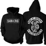 Blusa Moleton Blusão Com Capuz Sons Of Anarchy Série Samcro