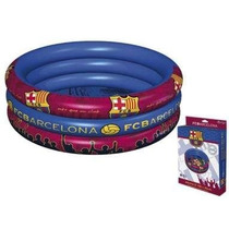 Piscina 3 Anillos Inflable Del Barcelona Y Real Madrid
