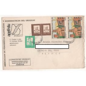 L629-sobre Circulado Uruguay-culiacan Sinaloa México