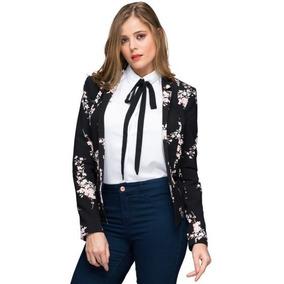 Chaqueta Casual Super Fashion De Flores. Ligera Para Mujer