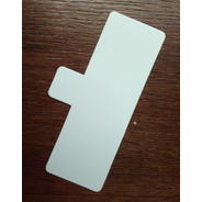 Base Rectangular Plastificado Ppm Blanco Mate Con Pestaña (x 100 U.) - Bauletto