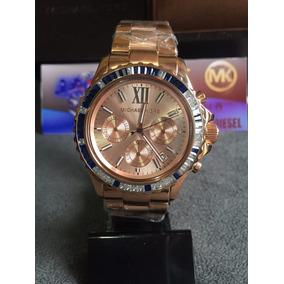 Relógio Michael Kors Mk5755 Baguette Rose Azul Na Caixa!! - Relógios ... fb6733a8ef