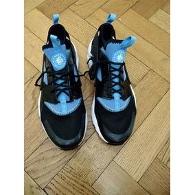 Nike Air Huarache Negras Y Azules