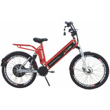 Bicicleta Elétrica Confort Full 800w 48v 12ah Cor Cereja