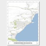 Mapa Ciudad De Comodoro Rivadavia 80cmx61cm