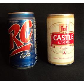 Royal Crown Cola Y Castle Lager - Set De Latas Años 90