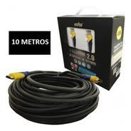 Cabo Hdmi 10 Metros 2.0 4k Ultra Hd 3d 19 Pinos Fch10 Feasso