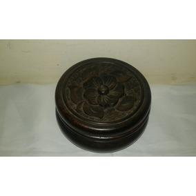 Caixa Porta-joia Em Madeira Antiga 11x 5 Cm Tampa Alto Relev