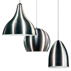 Conjunto De Lustres Luminárias De Aluminio Escovado E-27