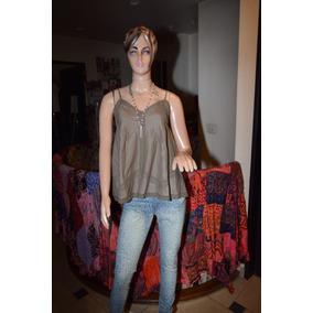 Maria Cher Musculosa De Algodon Con Puntilla Modelo Alban