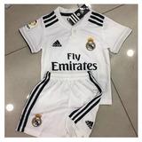 09b857f56f Conjunto Infantil Do Real Madrid 2018 Oficial - Mega Oferta