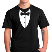 2353-camisetas Smolking Terno Gravata