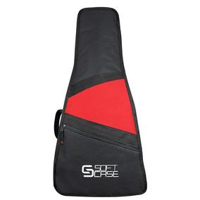 Capa Bag Cavaco Cavaquinho Soft Case Almofadada - Vermelho