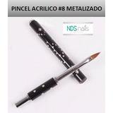 Pincel Acrilico #8 Metalizado Jh Nails