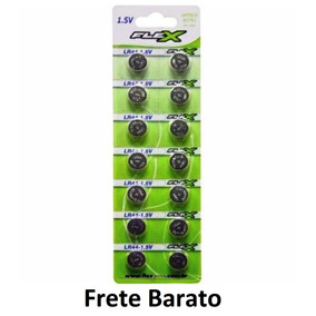 Kit 10 Cartelas Bateria Lr44 Ag13 140 Unidades Total