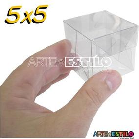 100 Caixas De Acetato 5x5x5 Caxinha Docinho Lembrancinha