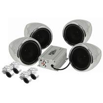 Kit 4 Bocinas Para Moto Boss Mc450 Amplificador 1000w Aux